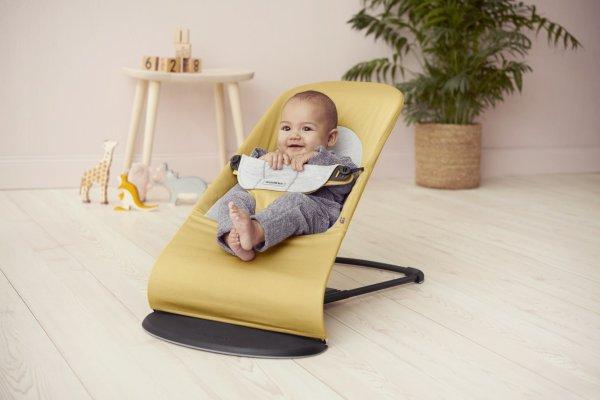 BABYBJORN Balance Soft gultukas Yellow/Grey, Cotton Jersey