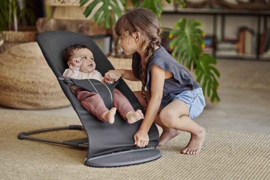 BABYBJÖRN gultukas Bliss, Charcoal Grey, 3D Jersey