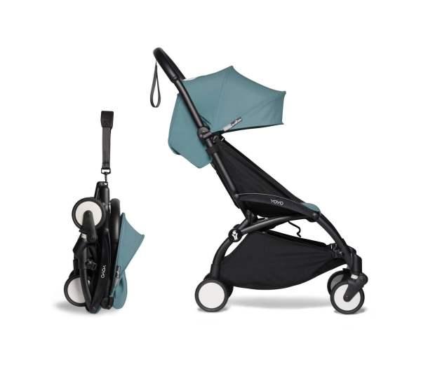 BABYZEN YOYO² vežimėlis 2in1 0+, 6+ rėmas Black, Aqua
