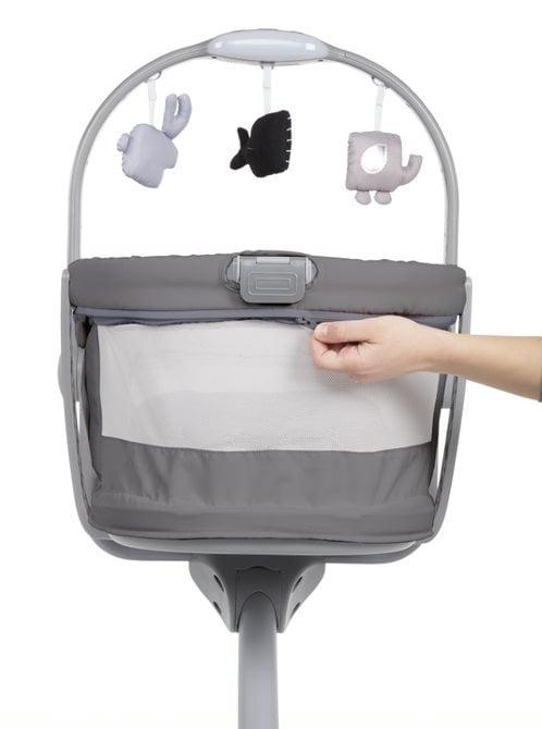 CHICCO BABY HUG AIR 4in1 lopšiukas - kėdutė, Dark grey