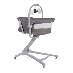 CHICCO BABY HUG AIR 4in1 lopšiukas - kėdutė, Dark grey