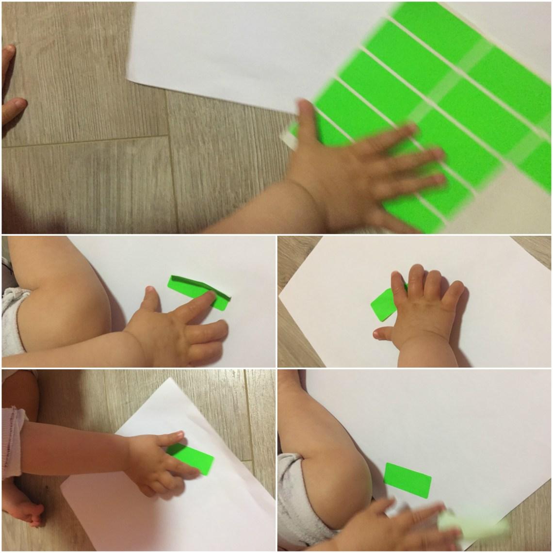 игра - залепяне на стикери