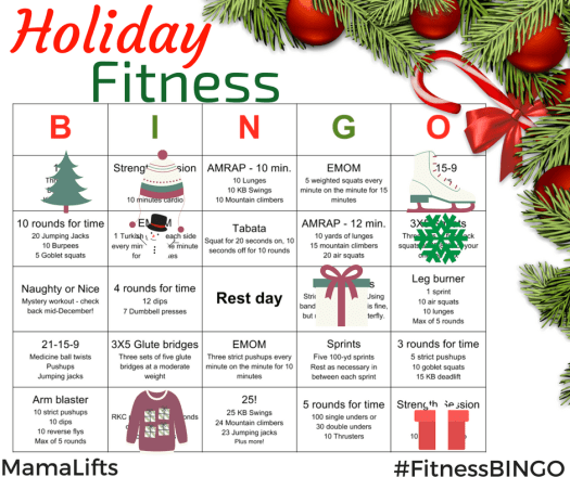 December Fitness Bingo; Mystery workout one