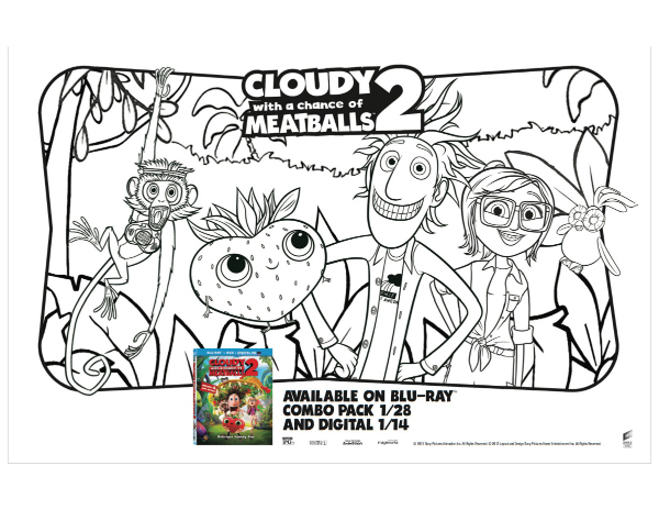 cloudy with a chance of meatballs coloring pages # 20