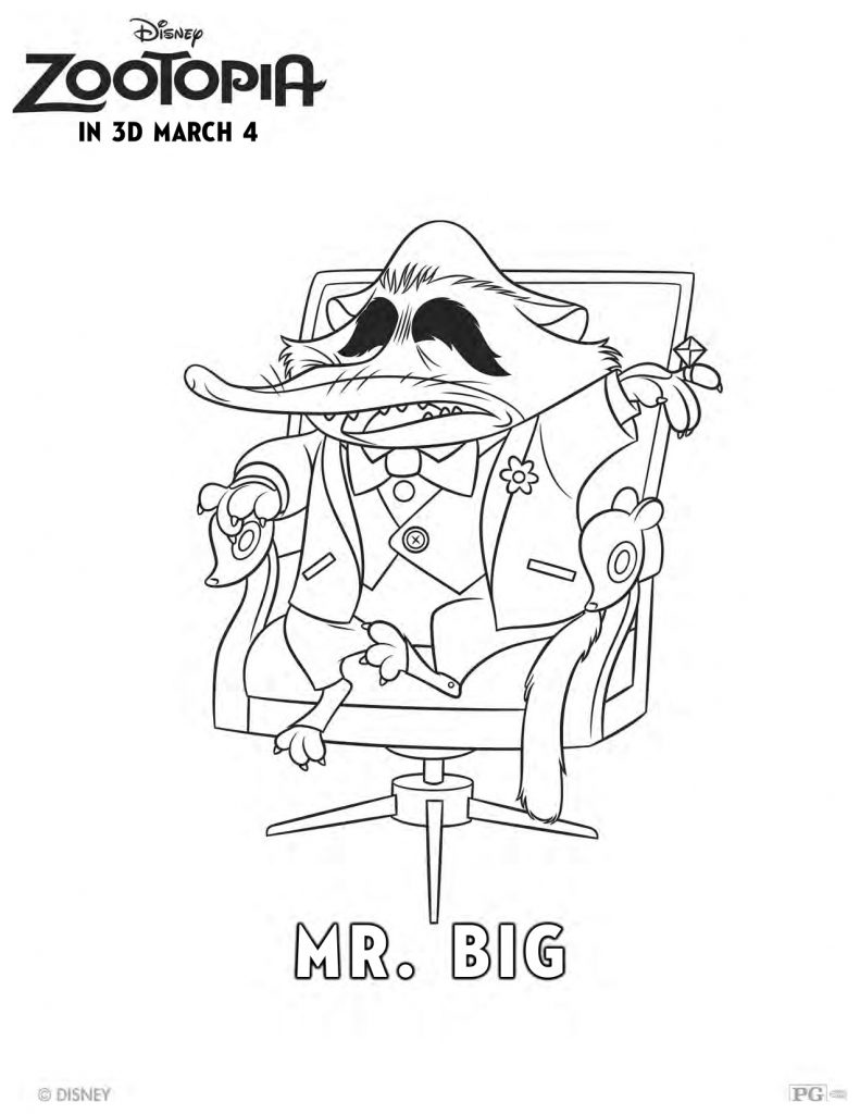 Free Disney Zootopia Mr Big Coloring Page Mama Likes This