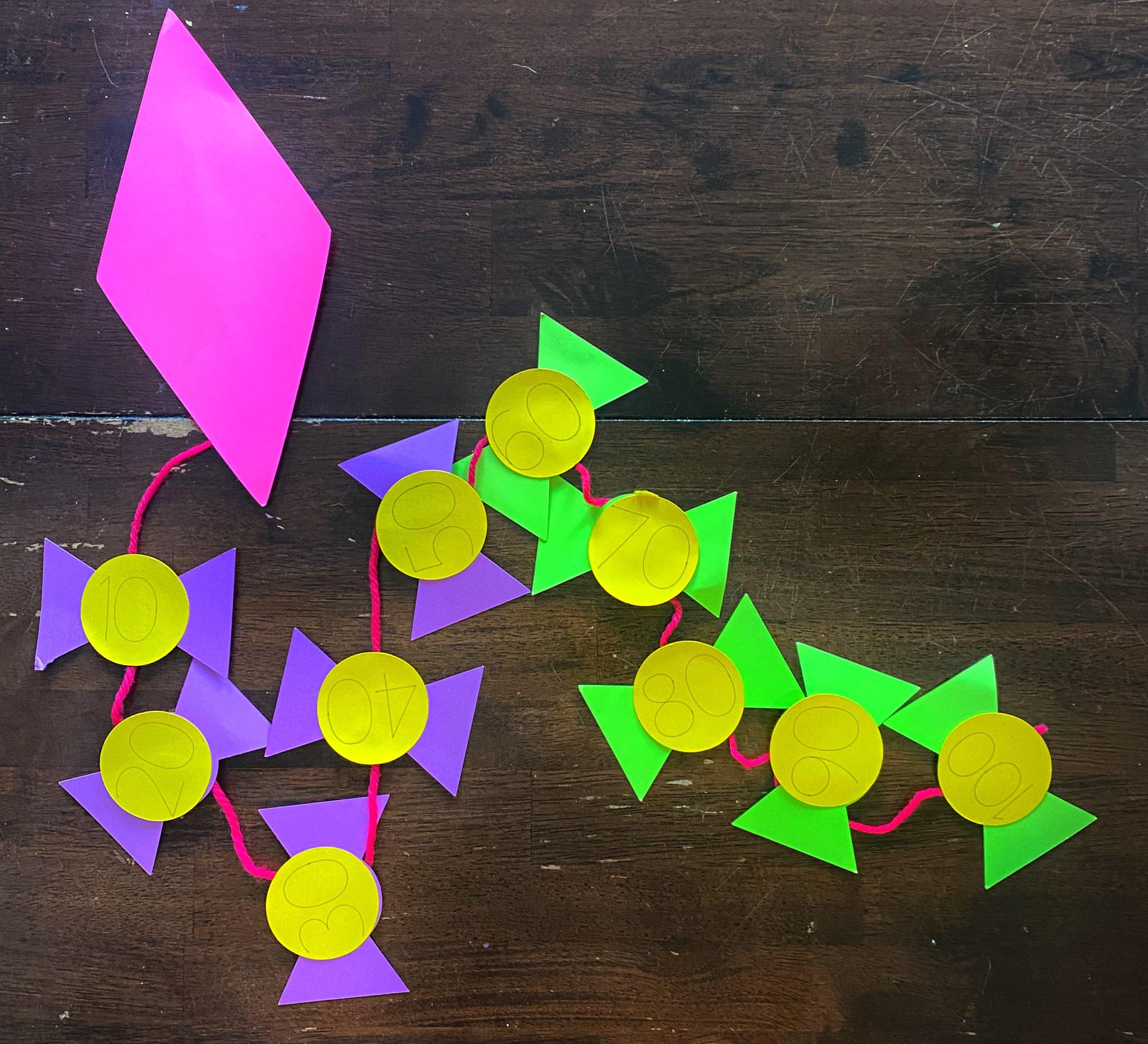 Spring Kite Kindergarten Math Craft