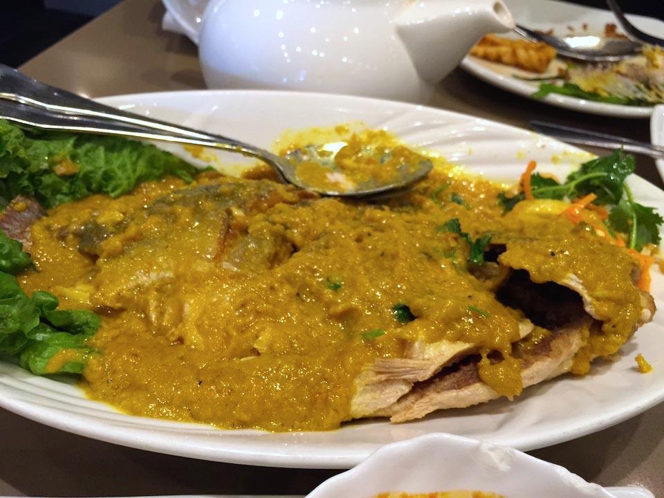 Otak Fish - curry sauce