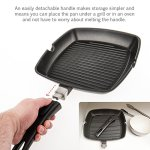Savisto-28cm-Premium-Cast-Aluminium-Non-Stick-Griddle-Pan-for-Gas-Induction-Electric-Hobs-with-Detachable-Handle-2-Year-Guarantee-0-0