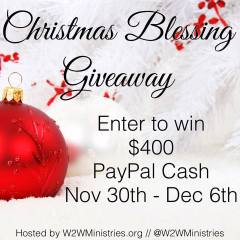 $400 Christmas Blessing Giveaway 2015