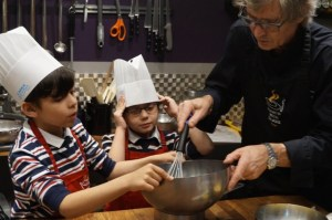 Cooking with kids in Paris