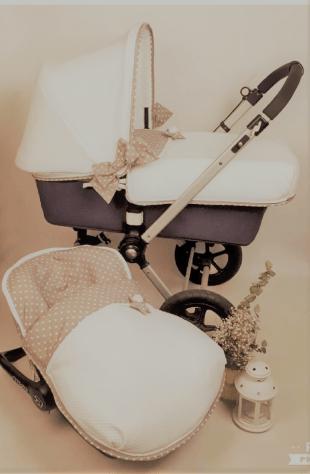 Capazo y silla vestidos con Fundas Buga