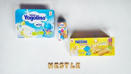 Galletitas, leche y yogurt nestlé