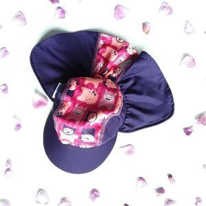Gorra con protección solar.
