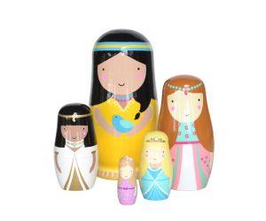 Matrioskas princesas. Imagen de tutete.