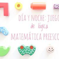Día y noche: juego de lógica matemática preescolar