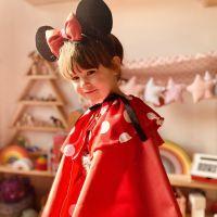 DIY disfraz Minnie Mouse low-cost de invierno.