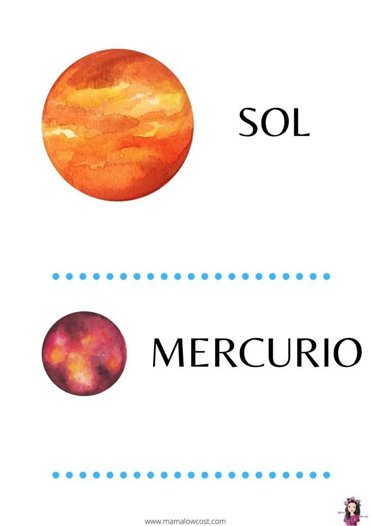 Nombres del sistema solar