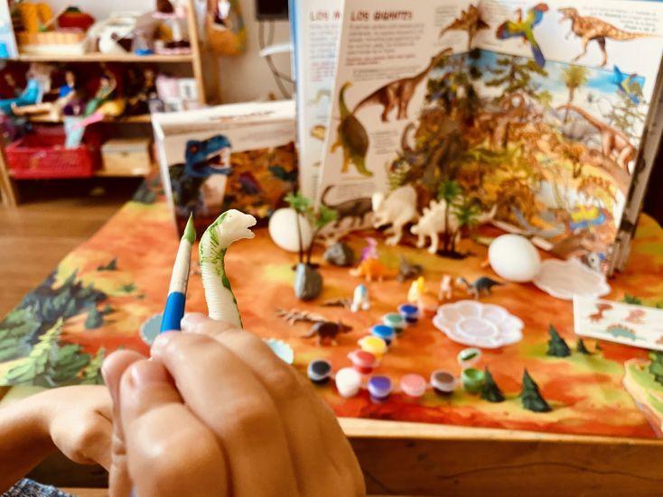 Pintando dinosaurios