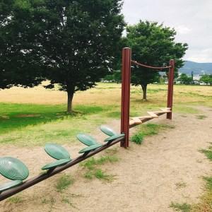 南長野運動公園平均台