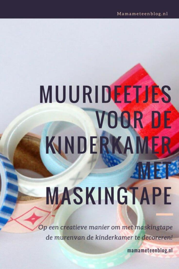 muurideetjes maskingtape kinderkamer Mamameteenblog.nl