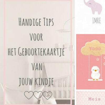 handige tips geboortekaartje mamameteenblog.nl