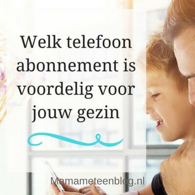 telefoonabonnement voordelig gezin mamameteenblog.nl