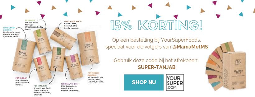 15% korting YourSuperFoods