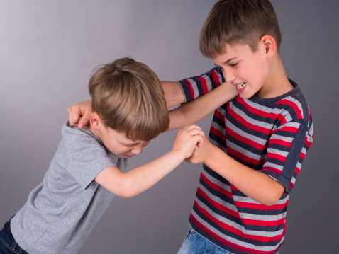 should kids say sorry fighting boys