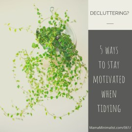 Don't lose steam! 5 steps to staying motivated during decluttering.