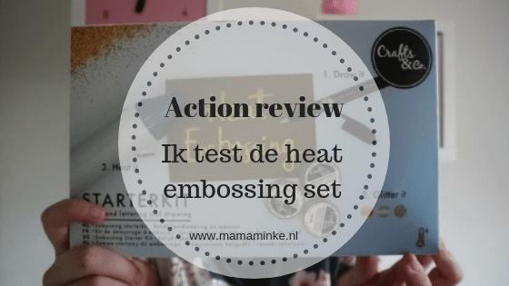 heat embossing startersset van de action in de review. Werkt de pen goed, blijft het embossingpoeder plakken en doet de heatgun het?
