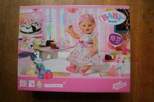 Nieuwe baby born soft touch en party set met accesoires review. party set