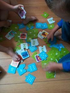 ABC en 123 puzzel uitzoeken