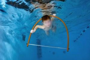 Zwemles ervaring, door hoepel zwemmen
