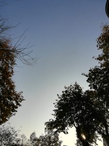 Mooie lucht dinsdag