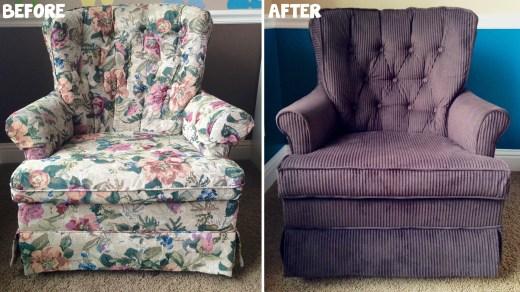 Reupholstering Chair