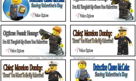 Free Printable Lego Police Valentines