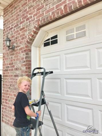 DIY Carriage House Garage Door