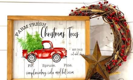 Farm Fresh Christmas Tree Sign