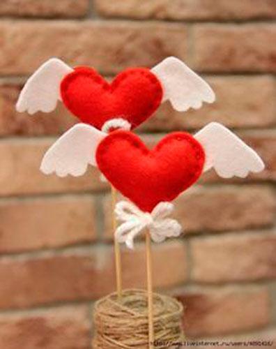 поделка из ткани на день святого Валентина 2