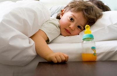 Bebé y botella