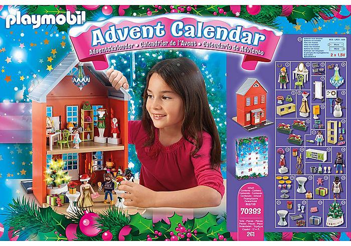 "Calendrier géant PLAYMOBIL ""Noel en famille"""