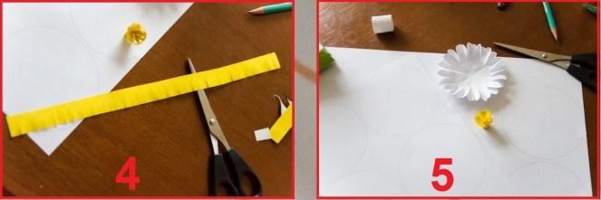 Ромашки из офисной бумаги