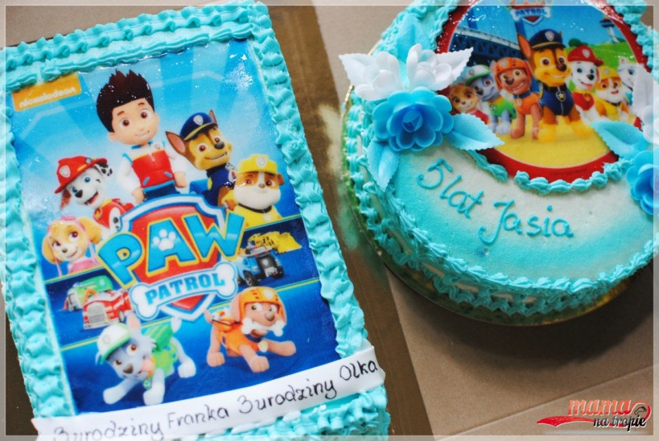 tort urodzinowy psi patrol, urodziny dziecka