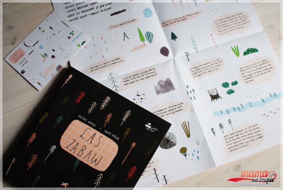 las zabaw, książka z mapą, książka edukacyjna
