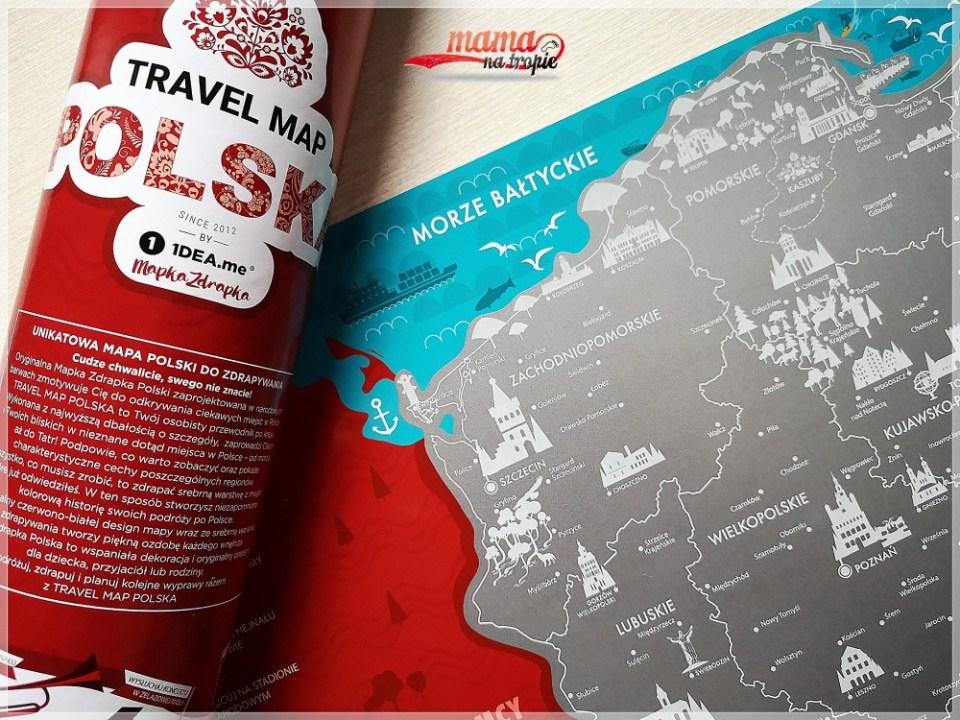 mapka zdrapka, podróżowanie z dzieckiem, podróżowanie placem po mapie, czas z rodziną