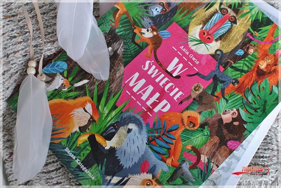 w świecie małp, nasza ksiegarnia, książka dla dzieci, książka całokartonowa