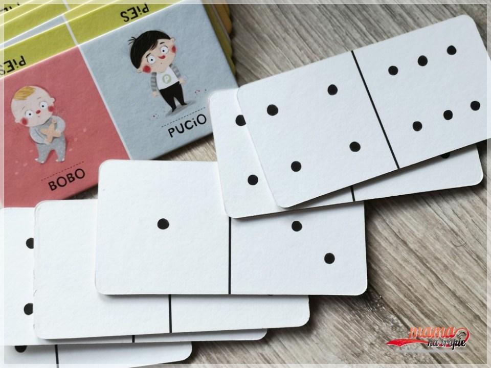 domino, gry planszowe z Puciem, sylaby, gry dla dzieci, planszówki, planszówki dla dzieci, nasza księgarnia, wspólna zabawa, zabawa z dzieckiem