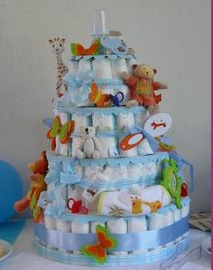 baby shower gâteau de couches diy