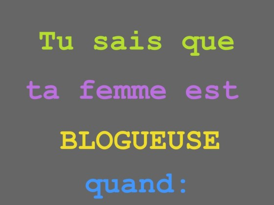 FEMME BLOGUEUSE