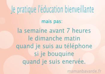 éducation bienveillante maman bavarde